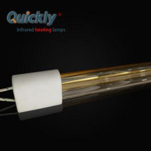 Rapidamente Reflector Dourado de ondas médias de tubo duplo Aquecedor de infravermelhos para secagem da pintura