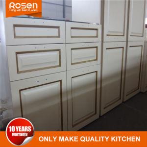 El roble de alta calidad de madera maciza modulares gabinetes de cocina con muebles antiguos