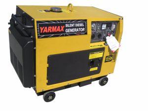 Yarmax 6kVA -7kVA 휴대용 침묵하는 유형 디젤 엔진 발전기 경제 가정 사용
