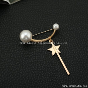Sciarpa circolare dello scialle di Pin del tasto della stella del Brooch Pendant Cinque-Aguzzo della perla