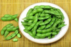 Замороженный зеленый соевых бобов, оригинальный вкус или соленой