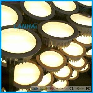 Gegoten In een nis gezette leiden van het Plafond 15With12W van het Aluminium 5.5inch Verlichting onderaan Licht