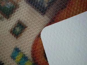 При нажатии кнопки стретч ПВХ коврик с напечатанными красочных конструкций
