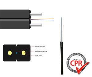 Venda a quente do molde único piscina interior com fio de aço FTTH Council óptica de Fibra Óptica/cabo de descida com Certificado Anatel