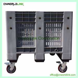 El apilamiento de carretilla elevadora de almacenamiento a granel de malla de plástico grande Bin