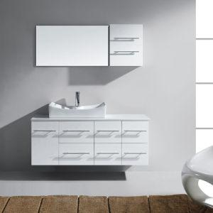 2018年フォーシャンの製造者の壁に取り付けられた現代浴室の家具、メラミン浴室の