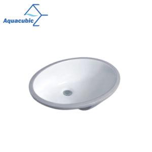 工場価格の楕円形の形のUndermountの浴室の陶磁器の洗面器