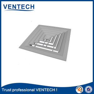 Quadratische Luft-Diffuser- (Zerstäuber)aluminiumdecke, HVAC-Leitung-Luft-Diffuser (Zerstäuber)