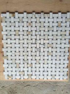 Het Gouden Marmeren Mozaïek van Calacata, de Opgepoetste Mozaïek en Tegels van het Mozaïek
