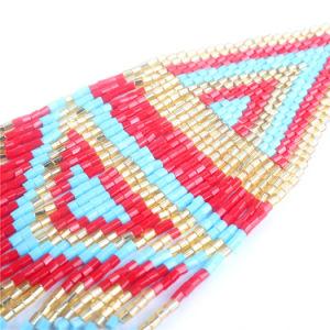 Collana tessuta della nappa bordata stile etnico della Boemia