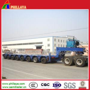 De hydraulische Op zwaar werk berekende Semi Modulaire Aanhangwagen van de Vrachtwagen van de Afstand Lowbed