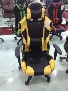 現代デザインコンピュータの賭博の椅子を競争させる柔らかいファブリックオフィス