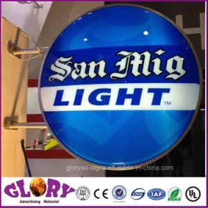 Vuoto esterno della casella chiara del LED formato illuminando segno