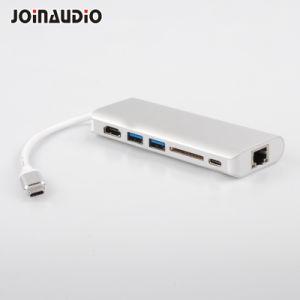 Typ-c Multi-Kanal Naben-Adapter mit der RJ45/2*USB3.0/SD/Pd Aufladung (9.5028)