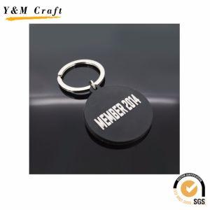 선전용 품목 원형 PVC Keyholder 중요한 꼬리표 열쇠 고리