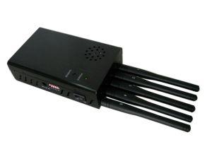 Antena 5 Portable Wifi GPS 3G celular Jammer con la construcción de la batería