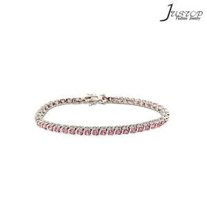 De roze Armband van het Plateren van het Witgoud van de Diamant Platina Geplateerde voor Vrouwen