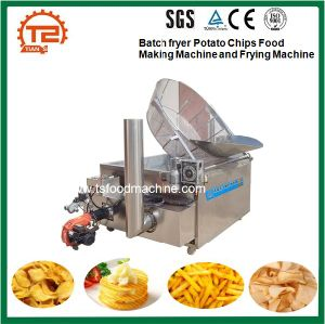 Alimento delle patatine fritte della friggitrice in lotti che fa macchina e che frigge macchina
