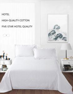 100% algodão confortável hotel de luxo Lençol Edredon cobrir fronhas e o conjunto de roupa de cama