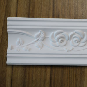PU Corniche baguette de décoration maison polyuréthane de moulures en couronne Hn-8012