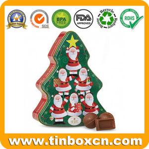 Heidel Árbol de Navidad Chocolates estaño metálico de embalaje Caja de regalo