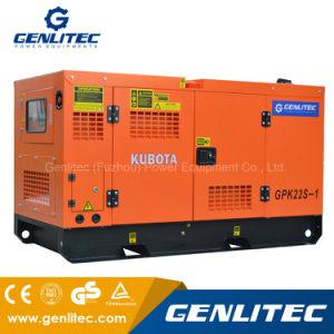 일본 Kubota 엔진을%s 가진 침묵하는 유형 30kVA/30kw 단일 위상 디젤 엔진 발전기