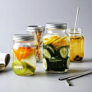 Getränketrinkende Glas-passende Schutzkappe und Stroh