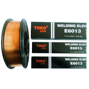 Staven van het Lassen van het Type van Kalium Titania van het Merk E6013 van Toko de Hoge