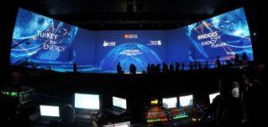 P3.91 500*500mm Indoor haute résolution affichage sur le mur à LED de location