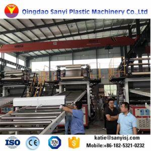 En matière plastique composite en plastique de pierre en vinyle PVC Flooring Spc Machines de revêtement de sol