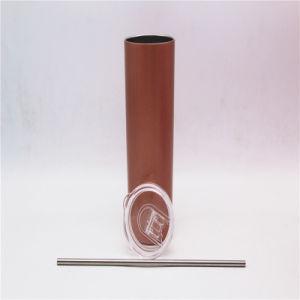 ふたおよびわら(ローズの金)が付いている20のOzのステンレス鋼の細いタンブラー