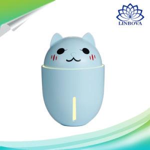 320ml portátil USB de la moda verano Cute Pet 3 en 1 Humidificador nuevo gato de dibujos animados Mini Humidificador con luz LED