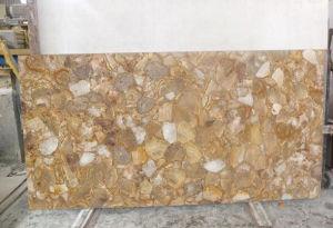 Chrysanthemum Gossil Gem dalles de pierre jaune de tuiles mur de pierres semi précieuses de bord