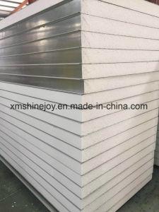 Placa de acero de color PPGI baratos con EPS Sandwich con aislamiento de calor Panel de pared para la estructura material de construcción de viviendas