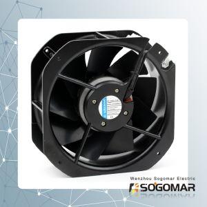 Venta caliente ventilador axial de 225x225mm hojas de metal marco negro 220-240 VAC