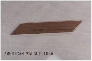 Nogal americano diseñado Chevron pisos de madera 1035