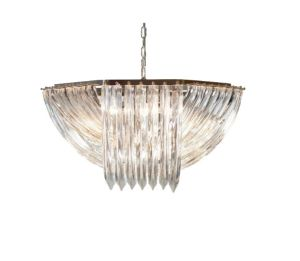 Decoración moderna de LED Bola de cristal con carcasa de aluminio Cristal Globo One-Light colgante iluminación interior Iluminación lámpara de araña montaje acabado cromado