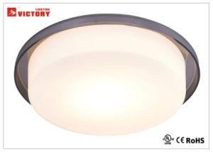 円形のガラス表面の現代簡単で装飾的なLEDの天井灯