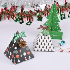Het Vakje van het Suikergoed van het Document van de Driehoek van de Gift van Kerstmis