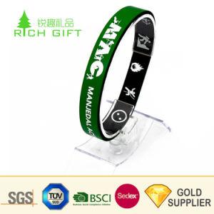 Бесплатные образцы пользовательских регулируемый Debossed Цвет Логотипа заполнены многократного использования торговой марки силиконовый браслет брелок