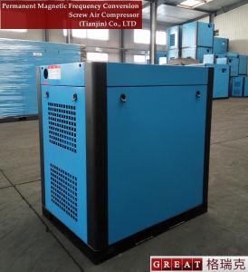 常置磁気頻度調節可能な二重回転式ねじ空気圧縮機