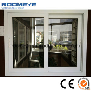 Finestra del PVC della finestra di scivolamento del PVC di formato standard per la Camera