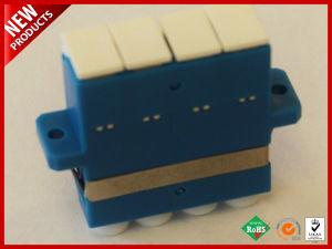 LC UPC Quad plástico Adaptador de fibra óptica monomodo.