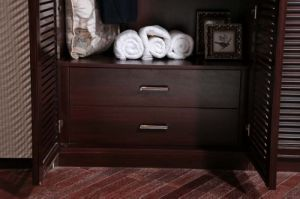 Oppein Brown Roupeiro Antique Wooden Built-in Bedroom Furniture (YG11329)