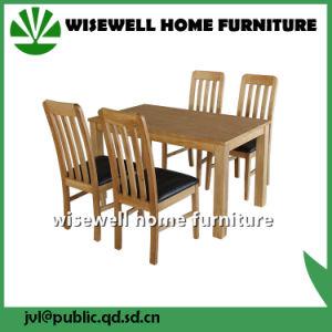4 의자를 가진 오크재 식당 가구 (W-DF-0688)
