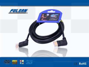 高速90の程度HDMIケーブル、男性ケーブルへの19pin男性