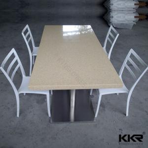 Superficie sólida de acrílico blanco de Carrara 60 Mesas de comedor redonda