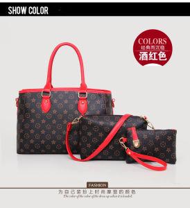 Bw-1953 Lady sacs sac sac à main en cuir de la femme 3PCS fixe