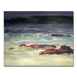 Het Chinese Met de hand gemaakte Olieverfschilderij Van uitstekende kwaliteit van het Canvas van het Zeegezicht voor het Decor van de Muur