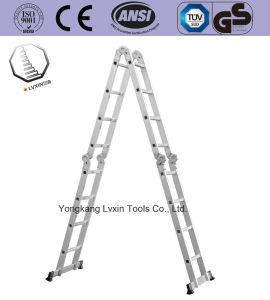 En131 de 16 pasos de la escalera multiuso de aluminio